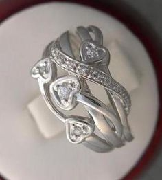 NEW GENUINE DIAMOND RIGHT-HAND CLUSTER RING 10KT WHITE GOLD FREE SHIPPING SIZE 9