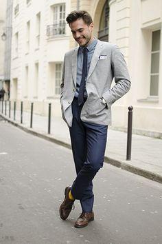 Chemise en chambray japonais Pantalon Bleu, Cravate, Costume Homme, Bonne  Gueule, Accessoires 7f711b05e0ea