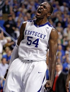 Patrick Patterson Photos - Patrick Patterson of the Kentucky Wildcats reacts during the game against the Rider Broncs on November 2009 at Rupp Arena in Lexington, Kentucky. - Rider v Kentucky Uk Wildcats Basketball, Kentucky Basketball, College Basketball, Basketball Players, University Of Kentucky, Kentucky Wildcats, Kentucky Sports Radio, Go Big Blue, Texas Rangers