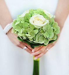 Brautstrauß in grün und weiß, Hochzeit, elegant, Zepter