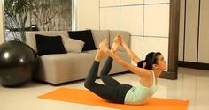 Exercise and lose weight! 5 yoga exercises to remove belly fat. Remove Belly Fat, Burn Belly Fat, Health And Fitness Apps, Yoga Fitness, Workout Fitness, Loose Weight, Easy Weight Loss, Health Benefits Of Ginger, Bow Pose