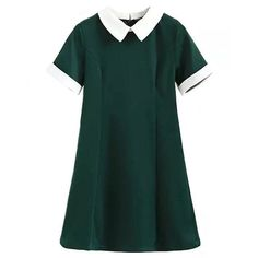 School Girl Collared Mini Dress ($50) ❤ liked on Polyvore featuring dresses