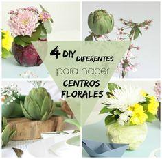 4 formas diferentes de hacer un centro de mesa Plants, Diy Decorating, Centerpieces, Shapes, Mesas, Creativity, Plant, Planting, Planets