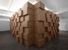 the wall is easy to install with enough helpers and re-useable.  zimoun_2012_294_motors_cork_balls_cardboard_boxes_3_800px