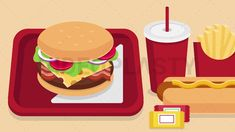 Fast Food Scene Stock Animation [MOV & GIF] Animated Icons, Animated Gif, Royalty Free Video, Scene, Animation, Make It Yourself, Youtube, Food, Essen