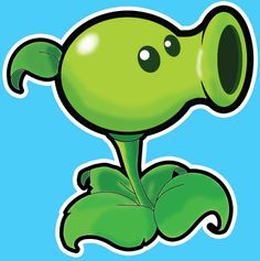 How to draw Pea Shooter from Plants vs. Zombies Game with easy step by step drawing tutorial « How to Draw Step by Step Drawing Tutorials
