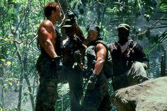 Predator - Publicity still of Arnold Schwarzenegger, Carl Weathers, Sonny Landham & Bill Duke Sonny Landham, Bill Duke, Stephen Hopkins, Carl Weathers, Predator Movie, Arnold Schwarzenegger, Antara, Event Photos, Behind The Scenes