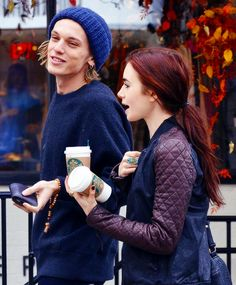 Lilly Collins - red hair