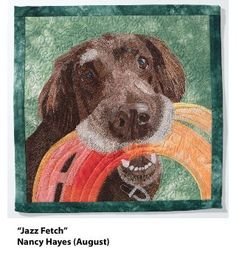 I love this face. Look at the detail. The artist is Nancy Hayes. This is the photo for August in my calendar.