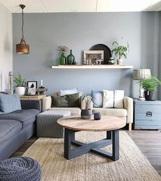 72 blue living room scandinavian paint color ideas why a blue living room can feel so good 13 - coodecors Living Room Paint, Home Living Room, Interior Design Living Room, Living Room Designs, Living Room Decor, Bedroom Decor, Trendy Home, Living Room Inspiration, Diy Home Decor