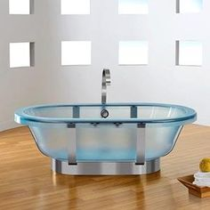 Superior Clear Bathtub...making Sure That If Someone Walks In On You, Itu0027s