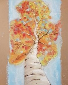 "Last one for #2016 ... ""Looking up the #birch #tree"" ... with #rembrandtpastels #bestpastelart ... Just wondering: Am I the first to revive  #pointillism with #softpastel ?? :) #happynewyear everyone and thanks for the #follows! See you in #2017  #pastelpainting #pasteldrawing #instaart #sketchaday #doodle #drawing #instaartist #dailysketch #trees #autumn #birchtree  #inspiration via #pinterest"