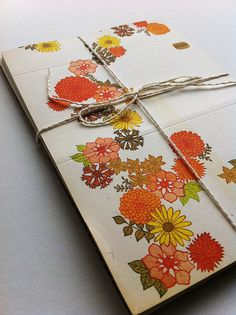 I loved these stationery cards; and they always had lively designs on them! - CG