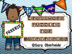 Multiplication crossword puzzles to help your kids with multi-digit multiplication. 2x1, 3x1 and 2x2 digit multiplication practice. Your kids will have so much fun and it's FREE!
