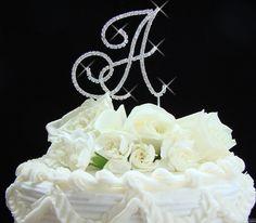 Renaissance Monogram Wedding Cake Topper Initials