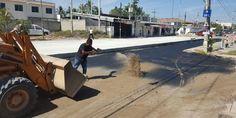 Pavimentación de calle Revolución en Las Juntas presenta avance del cincuenta por ciento