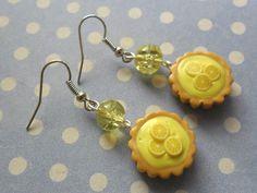 Boucles d'oreilles Tarte Citron #fimo