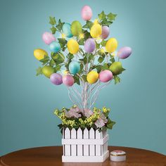 Collections Etc Lighted Easter Egg Tree Table Decoration – Wall's Furniture & Decor Easter Tree, Easter Wreaths, Easter Eggs, Egg Tree, Collections Etc, Easter Colors, Egg Decorating, Deco Table, Centerpiece Decorations