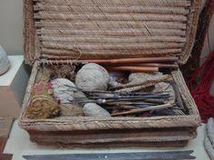 Inca weaver's basket, Larco Museum, Lima, Peru