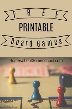 FREE Printable Board Games - FREE Printable Board Games – Educational games, cooperative games, just for fun games, all printa - Free Activities For Kids, Games For Toddlers, Games For Teens, Board Game Template, Printable Board Games, Printable Games For Kids, Free Printables, Diy Games, Free Games