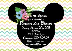 Minnie luau pastel Invitation by ASweetCelebration on Etsy