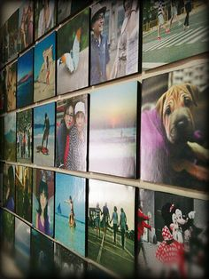My Instagram Wall. this will be cool for a plain dorm room wall.