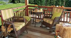 Turn worn wicker chairs into fabulous furniture pieces that will add style to your deck or porch.