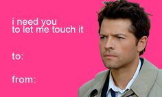 Photoset 1k Love LOL Ldr Supernatural Castiel Destiel Spn Valentines Day  Valentine Vday Valentine Card