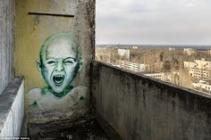 Desolate remains: Photographer Roland Verant, 35, from Vienna, captured a series of stunning images of the Ukrainian town of Pripyat, 30 years after the Chernobyl nuclear disaster that decimated the town