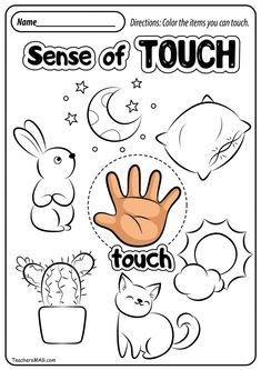 Free Five Senses Worksheets | TeachersMag.com