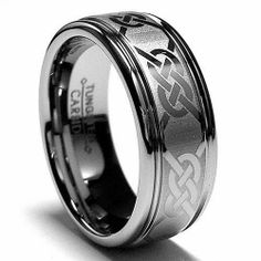 8MM Tungsten Ring Wedding Band with Laser Etched Celtic Design Sizes 7 to 15 Bonndorf. $55.99. Genuine Tungsten Carbide (Cobalt Free). Beware of Imitated Replicas. Comfort Fit. 30-Day Money Back Guarantee. Comes with a FREE Ring Box!!