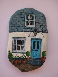 ❤❤ ♥ ⊰❁⊱ painted rock house