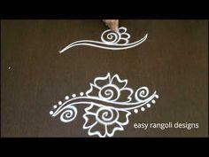 easy free hand side designs | simple border designs for kolam - YouTube Rangoli Side Designs, Rangoli Designs Latest, Free Hand Rangoli Design, Small Rangoli Design, Rangoli Ideas, Rangoli Designs With Dots, Rangoli Designs Images, Beautiful Rangoli Designs, Rangoli Borders