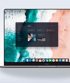 Apple OS / MacOS 2020 redesign - Edge to edge Macbook on Behance