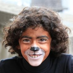 Deluxe Bear Face Paint-- use gray for face and black eyebrows