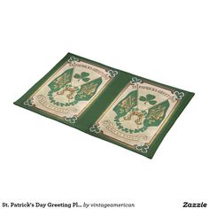 St. Patrick's Day Greeting Place Mat