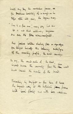 Auden Signed handwritten poem from his Berlin years (to the back of a letter to another author) Previously sold by IM (Therefore) fine art & manuscripts Commonplace Book, Handwriting, Berlin, Poems, Author, Fine Art, Lettering, Sayings, Things To Sell