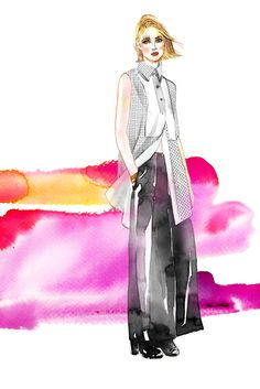 """6 Labels That Are Redefining """"Luxury"""" #refinery29  http://www.refinery29.com/luxury-fashion#slide1  Illustrations by Samantha Hahn  Ellery: Luxury In Workwear"""