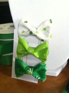 DIY bows for St. Patrick's Day