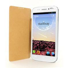 Le cuir, superbe housse Wiko en matière noble. Le cuir blanc grainé sera ultra tendance pour votre smartphone.