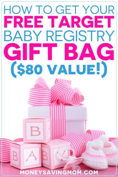 Are you expecting and getting ready to make a baby registry? Read how you can get a FREE baby registry Gift Bag filled with items worth $80! Target also has a checklist of baby registry must haves so you can be guided through the process! #babyregistry #babyitems #babycoupons #babyregistrymusthaves