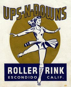 Ups-N-Downs Roller Rink decal
