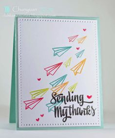 Chunyuan Wu for Avery Elle using Sending You clear stamp set and Dotted dies