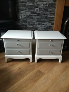 Old stag cabinets painted in Everlong porcelain and dark grey