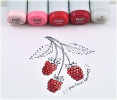 see how the berry on the right is starting to look more three dimensional, while the two on the left are looking flatter? Good tutorial.