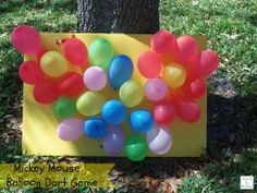 DIY Mickey Mouse Balloon Dart Game http://mamato5blessings.com/2014/02/diy-mickey-mouse-balloon-dart-board-game-disneyside/ #DisneySide