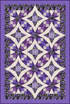 """Pansies in Paradise Quilt Kit Designed by Debbie Beaves using her new line """"Lovely!""""  I am sure you'll agree this quilt is quite lovely!  This kit SOLD OUT!"""