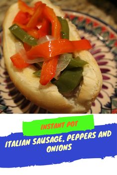Pressure Cooker, Instant Pot, Italian Sausage, Peppers and Onions. Italian, Easy Dinner, Fast, #instantpot