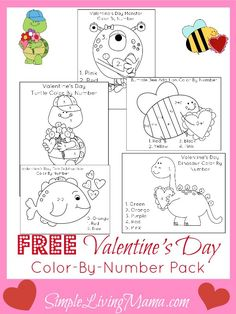 Valentine's Day Activities for Kids + FREE Valentine's Day Color By Number Sheets - Simple Living Mama