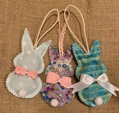 Lavender, Bunny, Christmas Ornaments, Holiday Decor, Crafts, Home Decor, Rabbits, Rabbit, Xmas Ornaments